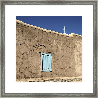 Adobe Church Taos Framed Print by Ann Powell