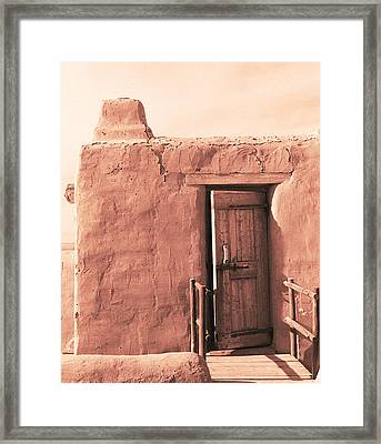 Adobe Doorway Framed Print by Eric Foltz