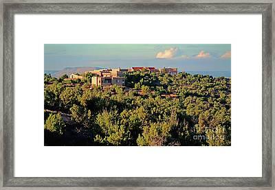 Framed Print featuring the photograph Adobe Homestead Santa Fe by Diana Mary Sharpton