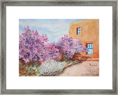 Adobe Lilacs Framed Print