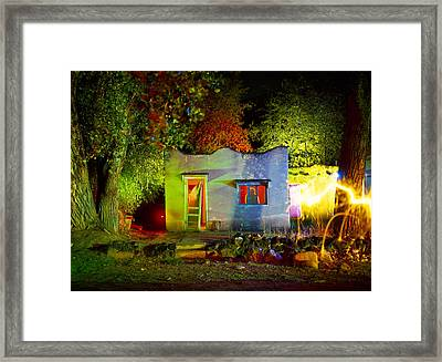 Adobe Motel Framed Print by Garry Gay