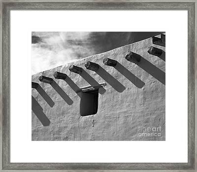 Adobe Roof Beams Framed Print by Arni Katz