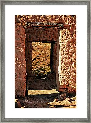 Adobe Ruin Framed Print