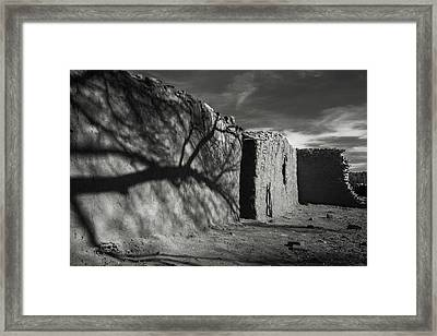 Adobe Shadows Framed Print