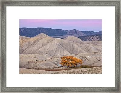 Adobe Sunset Framed Print