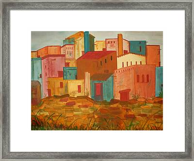 Adobe Village Framed Print