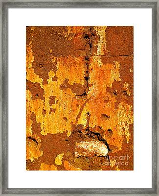 Adobe Wall 1 By Darian Day Framed Print by Mexicolors Art Photography