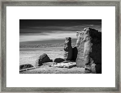 Adobe Walls Framed Print by James Barber