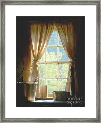 Adobe Window Light Framed Print