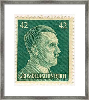 Adolf Hitler 42 Pfennig Stamp Classic Vintage Retro Framed Print