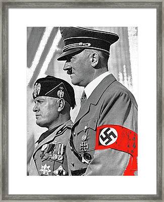 Adolf Hitler And Fellow Fascist Dictator Benito Mussolini October 26 1936 Number Three Color Added  Framed Print