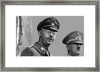 Adolf Hitler And Gestapo Head Heinrich Himmler Watching Parade Of Nazi Stormtroopers 1940-2015 Framed Print by David Lee Guss