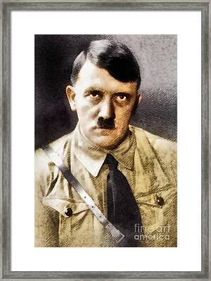Adolf Hitler, Leader Of The Nazi Party, Wwii. History Portraits Framed Print