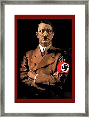 Adolf Hitler Painting Circa  1940 Color Added 2016 Framed Print