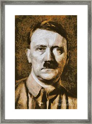 Adolf Hitler Portrait, Wwii Framed Print by Esoterica Art Agency