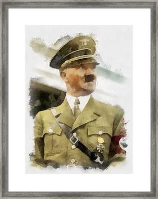 Adolf Hitler Wwii Framed Print by Esoterica Art Agency