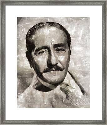 Adolphe Menjou, Actor Framed Print by Mary Bassett