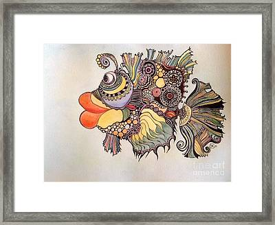 Adaptatus The Fish Framed Print by Iya Carson