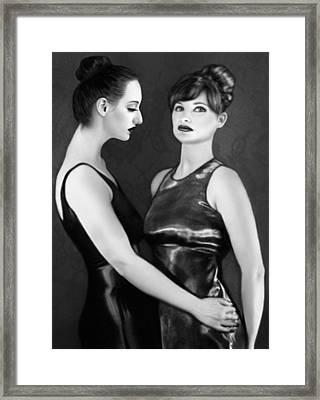 Adoration - Jaeda And Clarissa Framed Print by Jaeda DeWalt