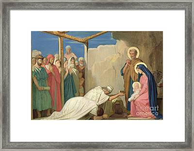Adoration Of The Magi, 1857  Framed Print by Hippolyte Flandrin