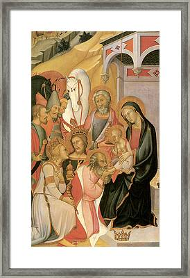 Adoration Of The Magi Di Fred Framed Print