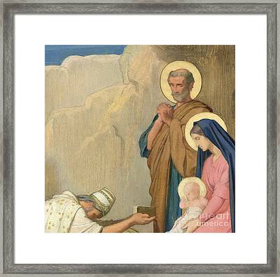 Adoration Of The Magi Framed Print by Hippolyte Flandrin
