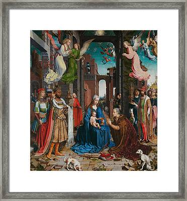 Adoration Of The Magi Framed Print by Jan Gossaert