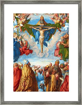 Adoration Of The Trinity Framed Print by Munir Alawi