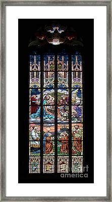Adoration - Stained Glass Window Framed Print by Michal Boubin