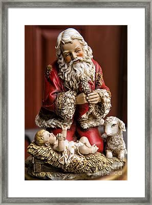 Adoring Santa Framed Print by Bonnie Barry