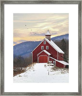 Adorned With Icicles Framed Print