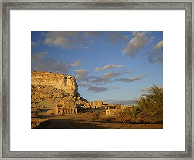 Adrere Amellal Framed Print by Rania El Maghraby