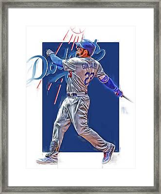 Adrian Gonzalez Los Angeles Dodgers Oil Art Framed Print