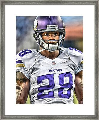 Adrian Peterson Art 5 Framed Print