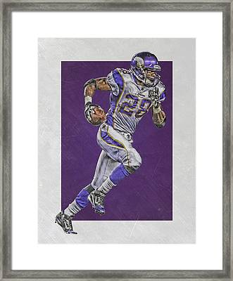 Adrian Peterson Minnesota Vikings Art 6 Framed Print