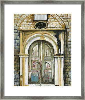 Adrianou Street Framed Print