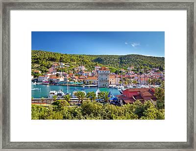 Adriatic Village Of Marina Near Trogir Framed Print