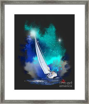 Adrift Framed Print by Barbara Hebert