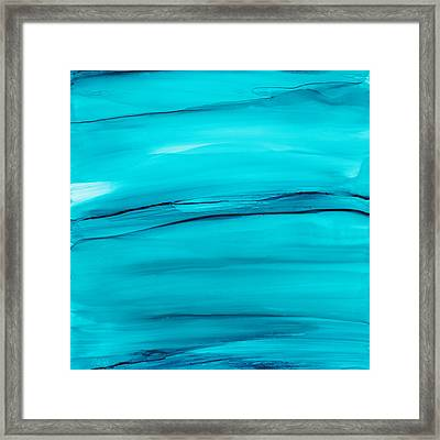 Framed Print featuring the painting Adrift In A Sea Of Blues Abstract by Nikki Marie Smith