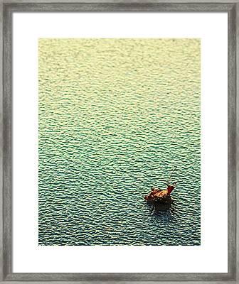 Adrift In A Sea Of Ennui Framed Print