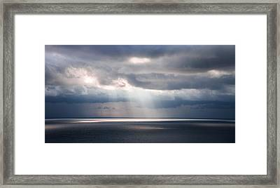 Adrift In Life's Journey Framed Print by Karen Wiles