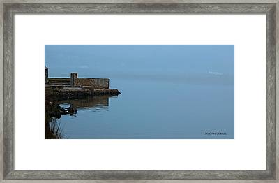 Adrift In The Fog Framed Print