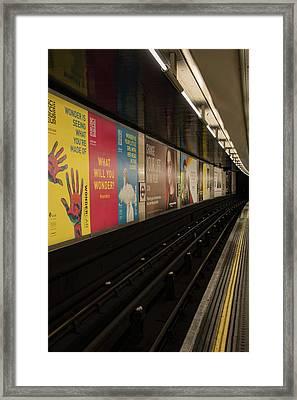 Ads Underground Framed Print