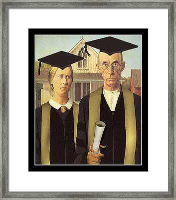 Adult Graduates Framed Print by Gravityx9  Designs