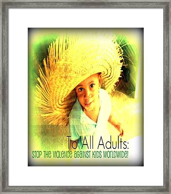 Adults Only Framed Print by Fania Simon