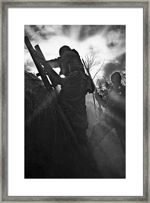 Advance To Contact Framed Print by Mark H Roberts