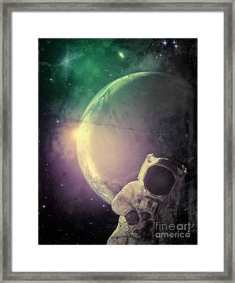 Adventure In Space Framed Print by Phil Perkins
