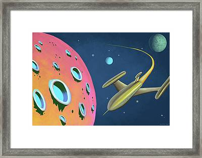 Adventures In Space Framed Print by Little Bunny Sunshine