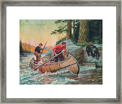 Adventures On The Nipigon Framed Print