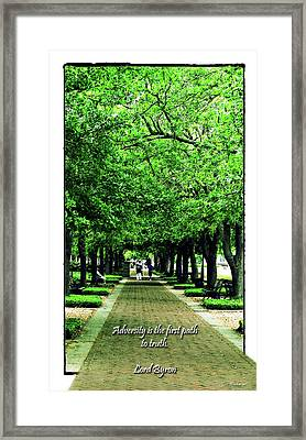 Adversity Quote Framed Print